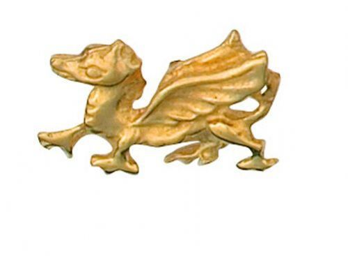 Dragon Lapel Pin Cravat Pin 9ct Gold Made To Order in Jewellery Quarter B''ham
